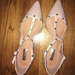 Blush baby pink adorable flats